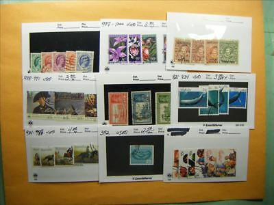 3383 Br. Commonwealth Lot of 9 Used Stamp Packs