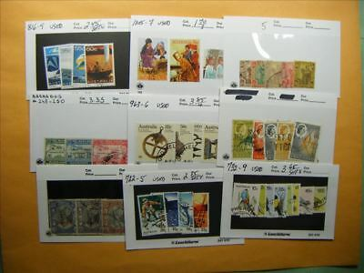 3386 Br. Commonwealth Lot of 9 Used Stamp Packs