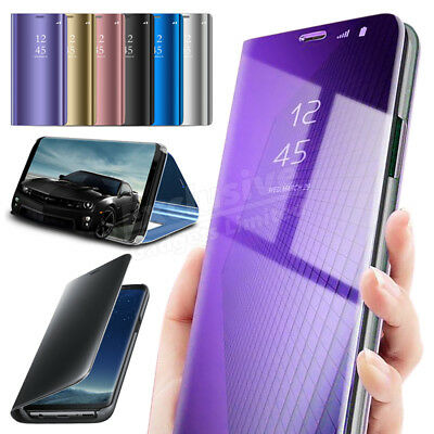 Samsung Galaxy S7 S8+ S9 Smart View Mirror Wallet Leather Flip Stand Case Cover