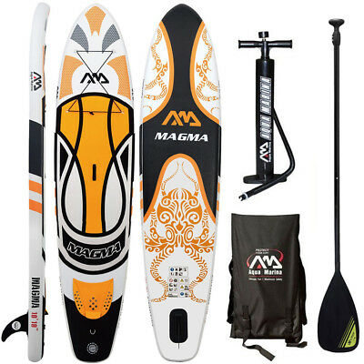 Aqua Marina Magma 2018 Stand Up Paddle Board Inflatable Paddel Pumpe Sup Isup