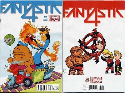 Fantastic Four #1 Animal And Young Variants Marvel Now Near Mint First Prints