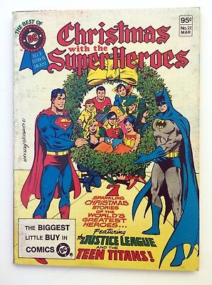 Best Of Christmas With The Super-Heroes Special Dc Blue Ribbon Digest~1980 Dc