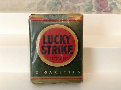 Vintage Lucky Strike Cigarettes Green Pack - Unopened - Factory Sealed