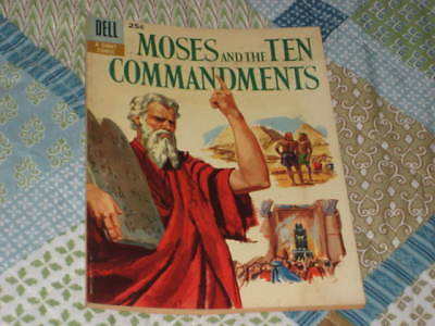 1957 Dell Moses and the Ten Commandments #1 Silver Age Comic
