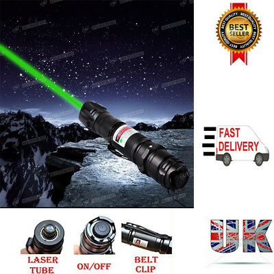 High Power Green Laser Pointer Pen 1MW 532nm 8000M Lazer Beam +Charger Battery