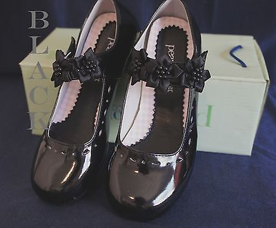 PEANUT G312 Flower Girl/Party DRESS SHOES BLACK Sz 5 (Youth)Wedding/Formal Event