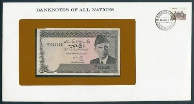 Pakistan: 1981 5 Rupees Banknote & Stamp Cover, Banknotes Of All Nations Series