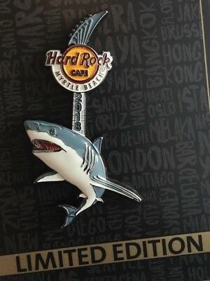 2018 Hard Rock Cafe Myrtle Beach 3D Shark Guitar Le Pin