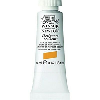 Winsor & Newton 14ml Designers Gouache Tube - Naples Yellow Deep - Paint Tubes