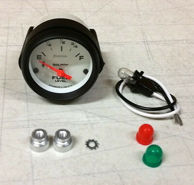 "SALE AUTOMETER PHANTOM ELECTRIC UNIVERSAL GM CHEVY FUEL LEVEL GAUGE 2-1/16"" 52mm"