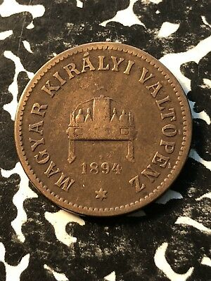 1894 Hungary 2 Filler (8 Available) Circulated (1 Coin Only)
