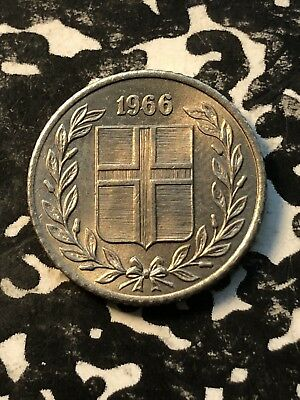 1966 Iceland 10 Aurar (2 Available) High Grade! Beautiful! (1 Coin Only)