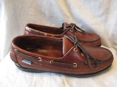Brown leather deck shoes size 7.5 by Sebago