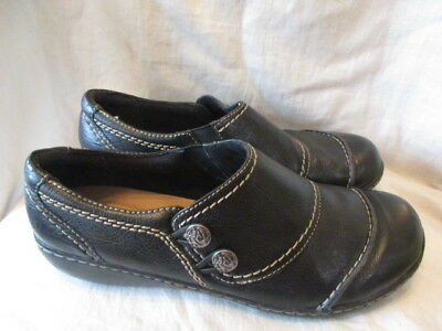 Clarks black leather casual shoes size 7