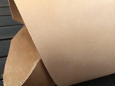 Vegetable tanned cow hide natural tooling leather strip.134 cm x 7 cm x 3.5 mm