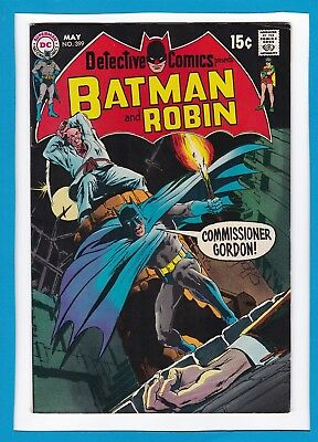"Detective Comics #399_May 1970_Very Fine_Batman_Robin_""he's Behind You!!"""