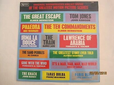 THE GREATEST MOTION PICTURE SCORES Original Soundtracks UKpress Vinyl freeUKpost