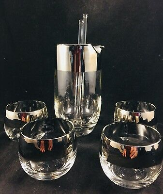 Dorothy Thorpe Style Cocktail Set 4 Roly Poly Glasses & Martini Pitcher w/ stir