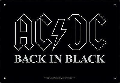 AC/DC BACK IN BLACK 8 x 11.5 TIN SIGN BRAND NEW BAND MUSIC 149811 auction