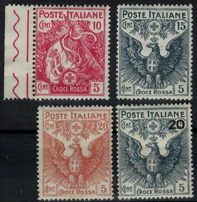 ITALY 1915-16 Red Cross beautiful set, well centered MNH / B26808