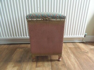 Vintage Loom Wicker Tall Ottoman Collectable