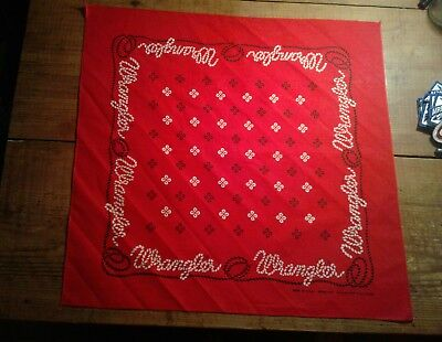 Wrangler Bandana In Great Condition Very Nice Rn #16429 Nice Looking Advertising