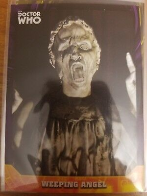 2017 Doctor Who Signature Series #54 Weeping Angel PURPLE 06/10 NrMint-Mint