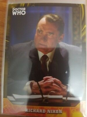 2017 Doctor Who Signature Series #98 Richard Nixon YELLOW 03/25 NrMint-Mint