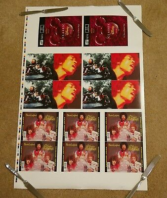 "Jimi Hendrix Experience ""Electric Ladyland"" cd UNCUT PRINTER PROOF SHEET poster"