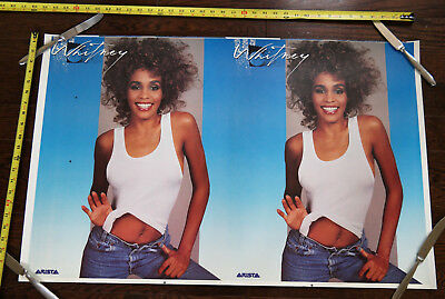 Whitney Houston ARISTA 35x22 UNCUT PRINTER PROOF SHEET original promo poster