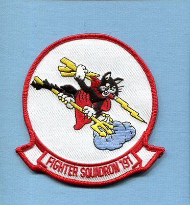 VF-191 SATANS KITTENS US NAVY F-8 CRUSADER F-14 TOMCAT Fighter Squadron Patch