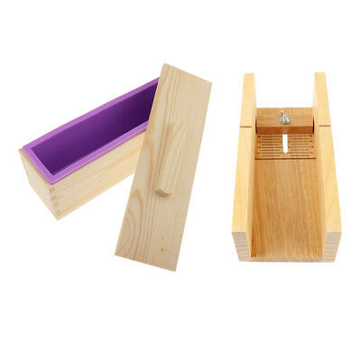 Silicone Soap Mold Planer Cutter Wooden Box DIY Toast Loaf Baking Cake Molds