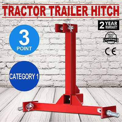 Heavy Duty 3 Point Receiver Trailer Hitch Category 1 Tractor Tow Drawbar Pull