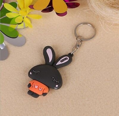 3D Creative Cute Keychain Creative Lovers Cartoon Animal Key Ring Rogue Rabbit