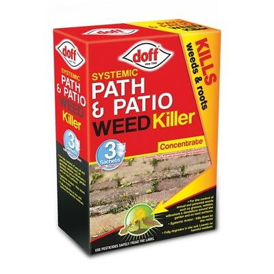 Doff Path & Patio Weedkiller 3 Sachet, 3x100ml