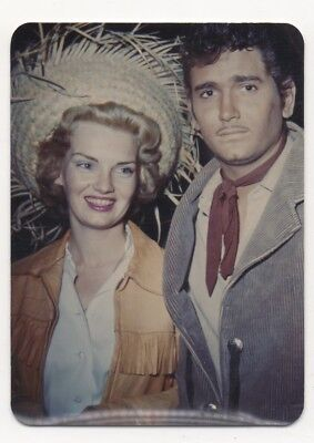 vtg 1950s color photo - Michael Landon and Dodie Levy Fraser - 1st wife Bonanza