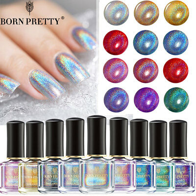 Holographic Glitter Nail Polish Laser Nail Art  Varnish BORN PRETTY 6ml