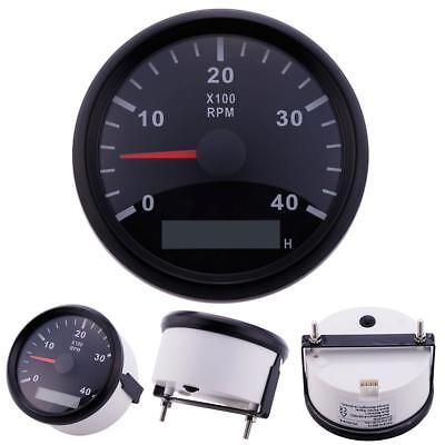 Marine RPM Tachometer Gauge WEMA LCD Tacho Hour Meter 0-4000 RPM 85mm as#21