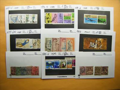 3507 Br. Commonwealth Lot of 9 Used Stamp Packs