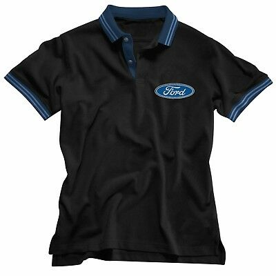 NEW 2019 Ford Embroidered Men's Polo Tee T-Shirt Fathers Day Christmas Gift