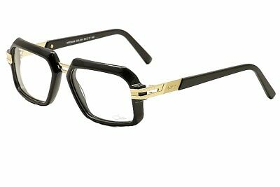 1f1a171550c2 Cazal Eyeglasses 6004 001 Black/Gold Rectangular Full Rim Optical Frame 56MM
