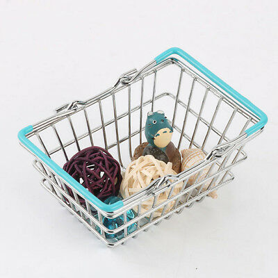 Small Children's Shopping Basket With Decorative Toy Chrome  Handles Lg