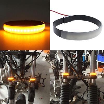 1Pcs Motorcycle Fork Turn Signals Light Amber LED Strips For Clean Custom mt#21