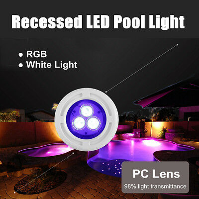 1-5 Pcs Underwater RGB Color LED Swimming Pool Light Spa For 2 inch Wall Fitting