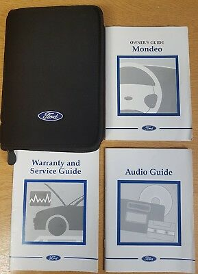 Genuine Ford Mondeo 2000-2003 Handbook Owners Manual Wallet  Pack F-25