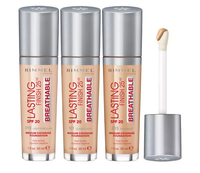 Rimmel Lasting Finish 25Hr Breathable Spf 20 Medium Coverage Foundation * New *