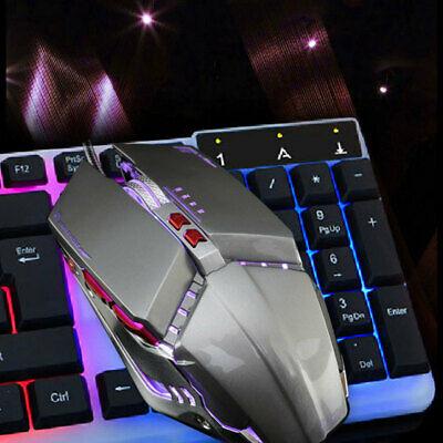Adjustable DPI 3200 4 Button LED Optical USB Wired Gaming Mouse for Pro Gamer