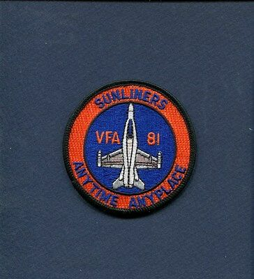 VFA-81 SUNLINERS Anytime US NAVY F-18 HORNET Fighter Squadron Bullet Patch