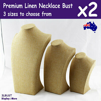 Necklace Bust Display | 2pcs | Full Linen PREMIUM Quality | AUSSIE Seller