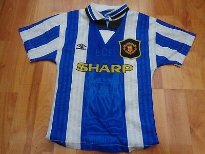 603d5ffd3d8 Manchester United Man Utd Vintage 1994-1996 94-96 Umbro 3Rd Small Boys Shirt